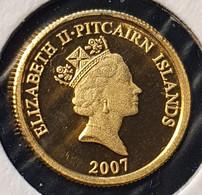 Pitcairn Islands 10 Dollars 2007  - Bounty Anchor (Gold) - Pitcairn Islands