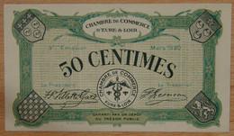 Chartres ( 28 Eure Et Loir) 50 Centimes Chambre De Commerce Mars 1920 - Cámara De Comercio