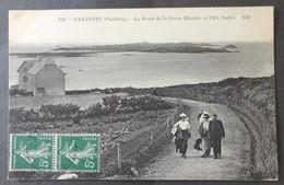 CPA 29 CARANTEC - La Route De La Grève Blanche Et L'Ile Callot - ND 1591 - Réf. B 253 - Carantec