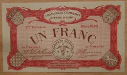 Chartres ( 28 Eure Et Loir) 1 Franc Chambre De Commerce Mars 1920 - Chambre De Commerce