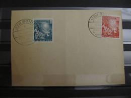 1949, Bund 1. Bundestag Ersttagskarte First Day Card, FDC-KW 150,- - Used Stamps