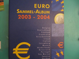 Euro-Album 2003-2004 For All Countries With Insertion And Preprint Sheets - Materiale