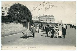 RAMSGATE : WEST CLIFF PROMENADE (LL) / ADRESSE - PARIS, RUE COURAT, (OUGEN) - Ramsgate