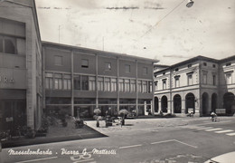 MASSALOMBARDA-RAVENNA-PIAZZA G.MATTEOTTI-CARTOLINA VERA FOTOGRAFIA-VIAGGIATA IL 16-9-1950 - Ravenna