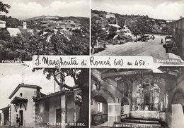 SANTA MARGHERITA DI RONCÀ-VERONA-4 VEDUTE-CARTOLINA VERA FOTOGRAFIA-VIAGGIATA IL 10-10-1985 PRODUZIONE 1955-1960 - Verona