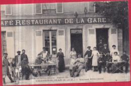 77 - CHANGIS-SAINT-JEAN - Maison RINCHON, Café-Restaurant De La Gare (superbe Plan De La Terrasse Très Animée) - 2 Scans - Other Municipalities