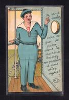 (24/12/20) THEME MILITARIA-CPA MARINE - CARTE A SYSTEME - Humour
