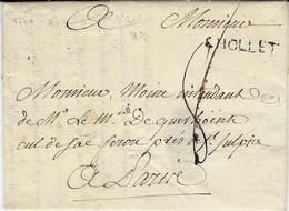 1770- Lettre De CHOLLET  ( Maine Et Loire ) Lenain L2    + Port Payé -taxe 8 Sous Pour Paris - 1701-1800: Precursors XVIII