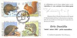 Belgique : Petits Mammifères De Eric Daniels / Invitation Signée Eric Daniels - Covers & Documents