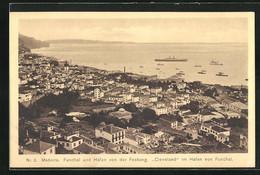 AK Funchal, Panorama Mit Hafen Von Der Festung Gesehen - Non Classificati