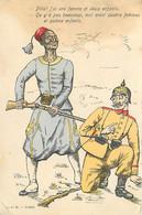 MILITARIA , Caricature Anti-Allemand , Tirailleur Sénégalais , * 440 91 - Oorlog 1914-18