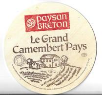 CAMEMBERT LAIT THERMISE  900 G - GRANDE ETIQUETTE BOIS - PAYSANS BRETONS PONT SCORFF MORBIHAN - Quesos