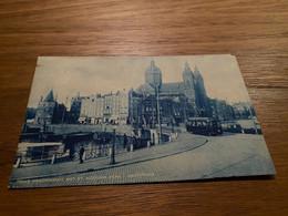 Amsterdam - Prins Hendrikkade Met St Nicolaas Kerk -  Met Tram - Gelopen 1911 - Amsterdam