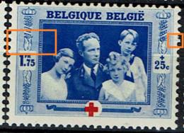 501  **  LV 17  Tuyau Bleu à Gauche Et Griffe à Droite - Abarten (Katalog Luppi)