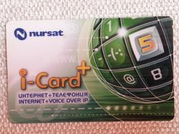 2005.. KAZAKHSTAN..PHONECARD..I-CARD....INTERNET+VOICE OVER IP...NURSAT - Telecom Operators