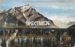 Cascade Mountain And Bow River Bridge Canadian Rockies - Banff- Canada - Banff