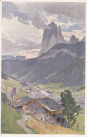 3330 - Österreich - Dolomiten , St. Ulrich In Gröden Gegen Den Langkofel , Künstlerkarte , Compton , Harrison - Nicht Ge - Compton, E.T.