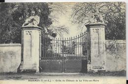- HUISMES C/ Chinon - Grille Du Château De La Ville Au Maire - Andere Gemeenten