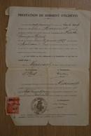 1939 Prestation Serment échevin Moresnet - Historische Documenten