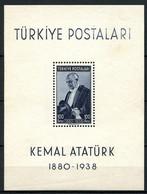 TURQUIE 1939 Bloc N° 1 ** Neuf MNH TTB C 100 € Anniversaire Président Atatürk - Blocks & Sheetlets