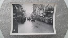GRANDE PHOTO - VICHY 03 ALLIER - POLICE - DRAGONS PORTES - MOTO SIDECAR - SIDE CAR - REGIME PETAIN - GUERRE 39 45 WWII - Krieg, Militär