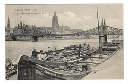 ALLEMAGNE - FRANKFURT A.M.  Mainpartie Und Eiserner Steg - Frankfurt A. Main
