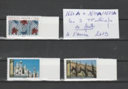 FRANCE / 2019 / Y&T N° AA 1660A ** + 1674A/1675A : Les 3 TP De Feuille Adhésive De L'année 2019 (3 TVP = 1LV + 2 LP) X 1 - Luchtpost