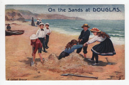 On The Sands At Douglas - A Gallant Rescue - Tuck Oilette 9466 - Isola Di Man (dell'uomo)
