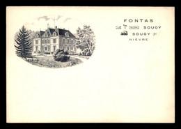 58 - SOUGY - CHATEAU DE FONTAS - CARTE ILLUSTREE - Sonstige Gemeinden