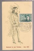 Carte Premier Jour  Rimbaud - Verlaine   Charleville 1954 - Escritores