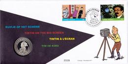B01-243 2011-018 4170 4174 Bloc 192 BD Rare Hergé 1907-2007 Tintin  à L' écran Kuifje Numisletter Pièce Monnaie - Numisletters