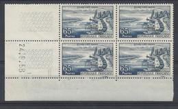 EVIAN N° 1131 - BLOC De 4 COIN DATE - NEUF SANS CHARNIERE - 24/9/58 - 2 Traits - 1950-1959
