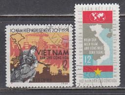 Vietnam Nord 1964 - (2) 10th Anniversary Of The Geneva Convention, Mi-Nr. 325/26, Used - Viêt-Nam