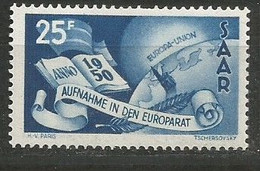Saar Deutschland Germany Mi.297 MNH / ** 1950 Europa - Nuevos