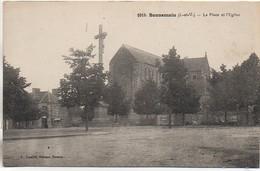 35 BONNEMAIN  La Place De L'Eglise - Altri Comuni