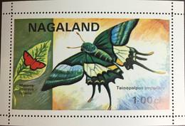 India Nagaland 1971 Butterflies Minisheet MNH - Farfalle
