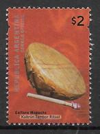 ARGENTINA - 2000 - TAMBURO KULTRUN - $2 - USATO (YVERT 2204 - MICHEL 2596I) - Oblitérés