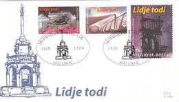 32757 Liège - Musée - MAMAC - Pont Entre La Nouvelle Gare Et L'autoroute - Lidje Todi - Hauts-fourneaux De Cockerill - 2001-10