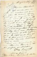 Courrier 1901 / Autographe Comte De Prunelé / Château De Digoine / 71 Saône Et Loire / Près Palinges - Autographs