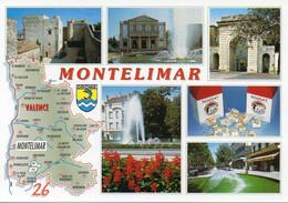 CPM Géographique - 26 DRÔME - MONTELIMAR Capitale Du Nougat, Blason, Multi Vues - TBE - Maps