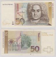 T144174 Banknote 50 DM Deutsche Mark Ro. 293a Schein 2.Jan. 1989 KN AD 7042984N4 - 50 Deutsche Mark