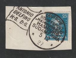 """Deutsches Reich - 1927 - Stempel """"DEUTSCHE SCHIFFSPOST HAMBURG-SUEDAMERIKA"""" Auf Bfst. (E027) - Machine Stamps (ATM)"""