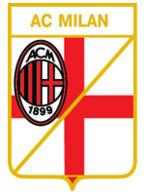 "Badge Pin: Italian Football Clubs Italy Pins  "" AC Milan "" - Football"