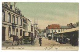 Belgique - PERUWELZ - 1 CP - La Place Avec Le Marché - Péruwelz