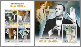 SIERRA LEONE 2020 MNH Frank Sinatra M/S+S/S - OFFICIAL ISSUE - DHQ2053 - Music