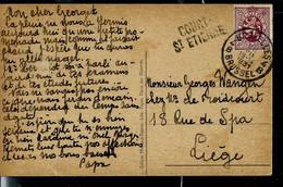 Carte-vue  Obl. BXL - 4B- De 1931  + Griffe De COURT - ST ETIENNE - Sello Lineal