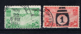 D(B) 201 ++ USA 1937 MICHEL 400-401 AIRMAIL USED CANCELLED - 1a. 1918-1940 Usati