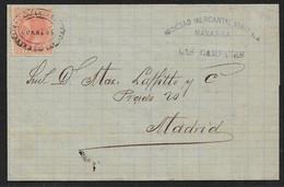 1886 COVER CARTERIA LAS CAMPANAS NAVARRA On 15c Ed. RARE CANCELLATION ON THIS ISSUE - Cartas