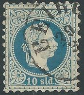 1875-73 AUSTRIA LEVANTE USATO EFFIGIE FRANCESCO GIUSEPPE 10 S - RC26-4 - Eastern Austria
