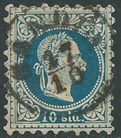 1875-73 AUSTRIA LEVANTE USATO EFFIGIE FRANCESCO GIUSEPPE 10 S - RC26-5 - Eastern Austria